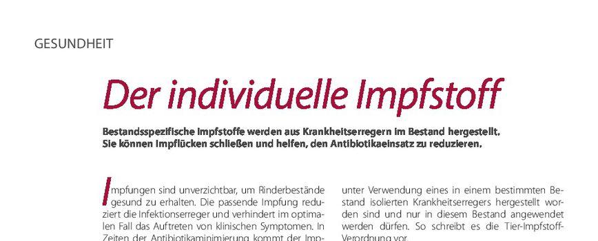 Der Individuelle Impfstoff Elite Magazin